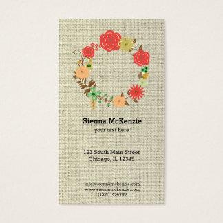 Flowers wreath business card