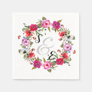 Flowers wreath for all occassions napkin