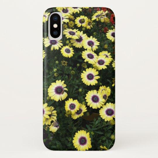Flowers - Yellow Purple iPhone X Case