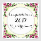 FLOWERSWEDDING 3Square Stickers Large 3 inch sheet