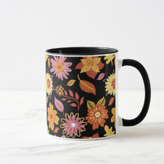 Flowery Black mug of Primavera