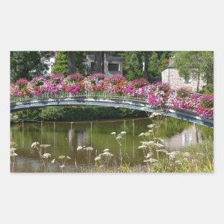 Flowery bridge at Bagnoles-de-l'Orne Sticker