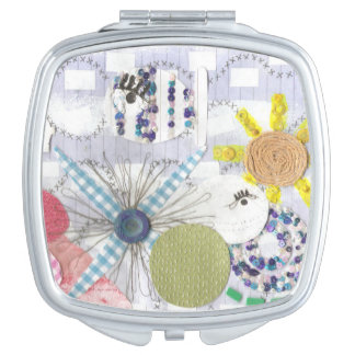 Flowery Fish World Compact Mirror