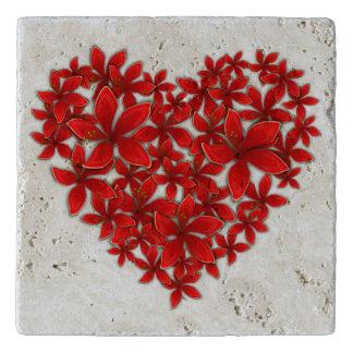 FLOWERY HEART TRIVET