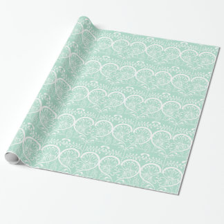 Flowery Hearts Wedding Wrapping Paper