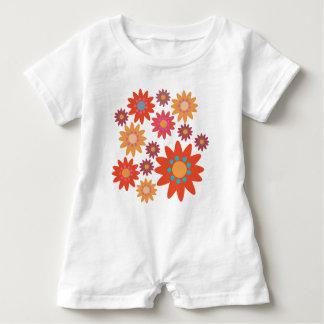 Flowery kit: Overalls for baby Baby Romper