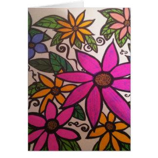 Flowery notecard