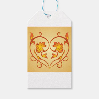 Flowery pattern gift tags