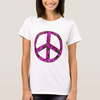 flowery peace symbol T-Shirt