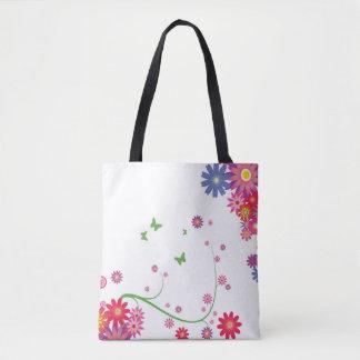 flowery shopping bag