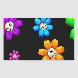 Flowery skulls sticker
