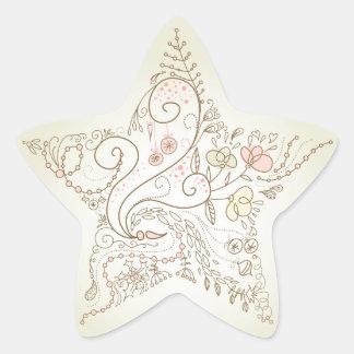 Flowery Star Stickers