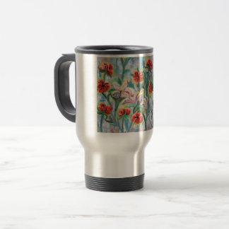 Flowery traveler's mug
