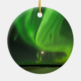 Flowing Aurora Ceramic Ornament
