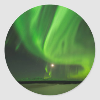 Flowing Aurora Classic Round Sticker