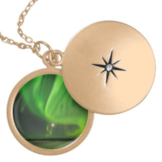 Flowing Aurora Locket Necklace