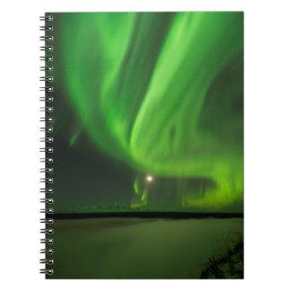 Flowing Aurora Notebook