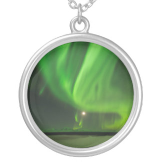 Flowing Aurora Silver Plated Necklace