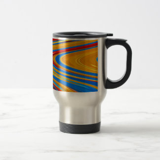 Flowing Color Abstract Travel Mug