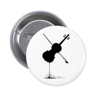 Flowing Fiddle Music 2 Inch Round Button