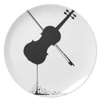 Flowing Fiddle Music Party Plate