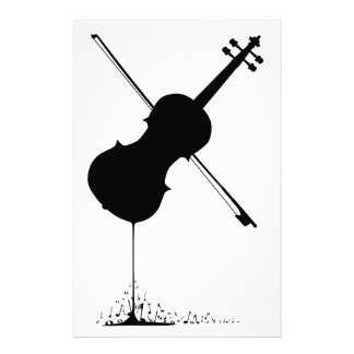 Flowing Fiddle Music Personalized Stationery