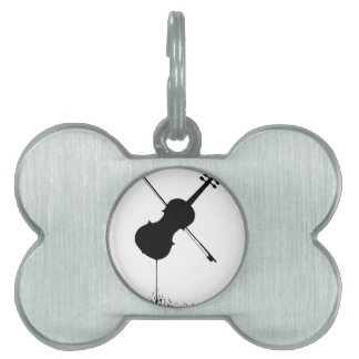 Flowing Fiddle Music Pet Tag