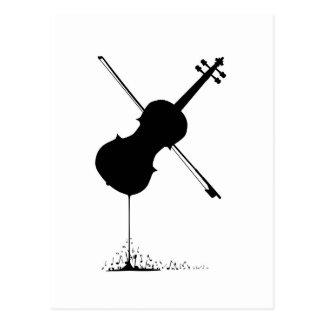 Flowing Fiddle Music Postcard