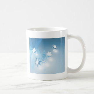 FLOWING FLORAL COFFEE MUG