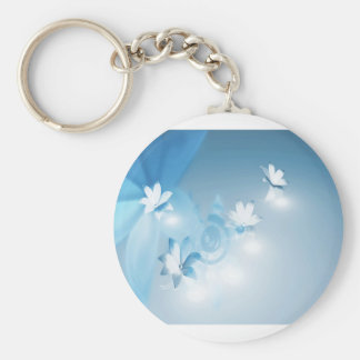 FLOWING FLORAL KEYCHAIN