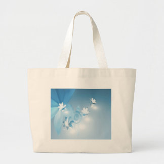 FLOWING FLORAL LARGE TOTE BAG