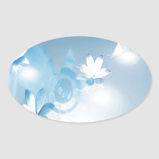 FLOWING FLORAL OVAL STICKER