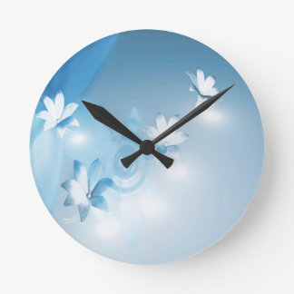FLOWING FLORAL ROUND CLOCK