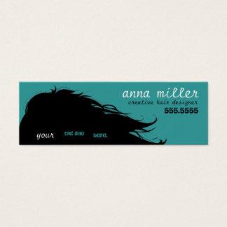 flowing hair mini mini business card