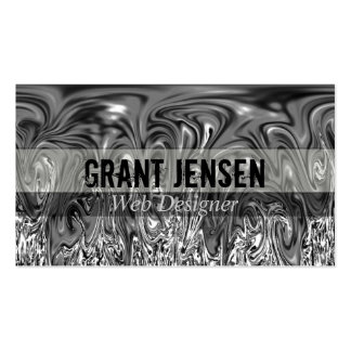 Flowing Hot Silver Business Cards