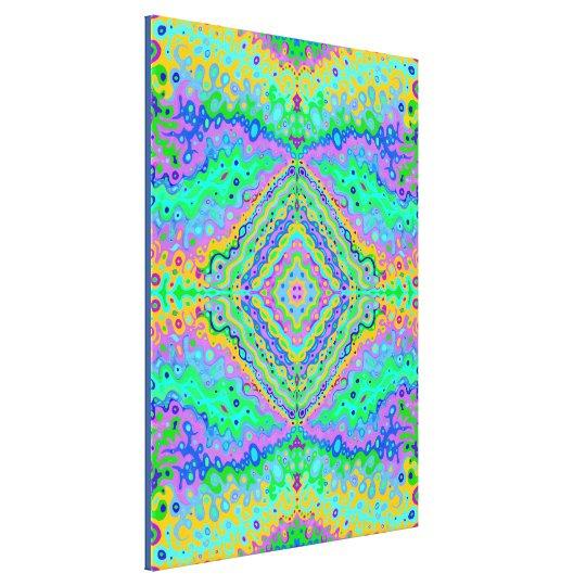 Flowing Life Organic Art Fractal 3, med Canvas Print