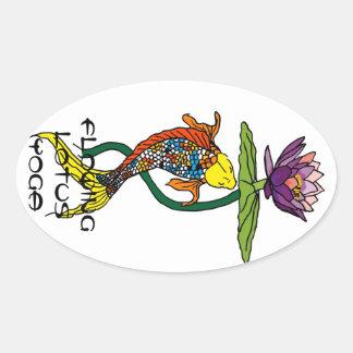 Flowing Lotus Yoga Sticker