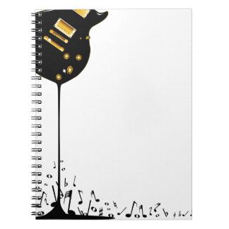 Flowing Music Spiral Notebook