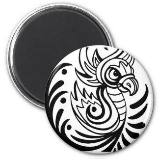 Flowing Regal Bird Design Fridge Magnets