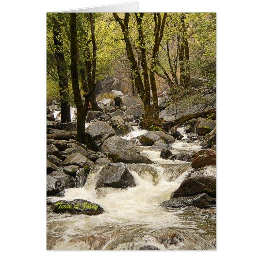 Flowing Stream - Yosemite National Park Card