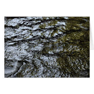 Flowing Water / abstract Greeting Card