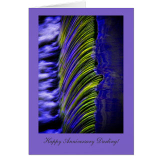 Flowing Water Abstract, Happy Anniversay Darling Card