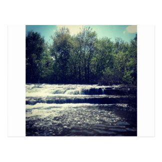 Flowing water postcard