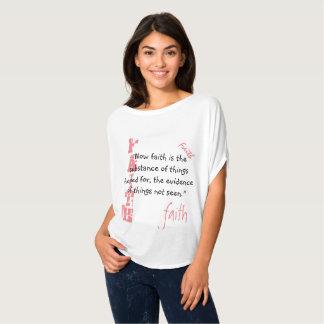 Flowy Circle Top-  Faith Scripture, Hebrews 11:1 T-Shirt