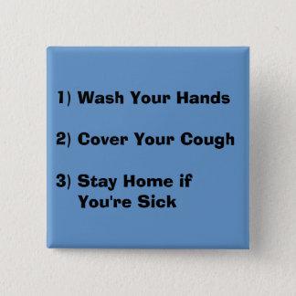 Flu Season 2 Inch Square Button