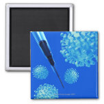 Flu vaccine, conceptual computer artwork. magnet