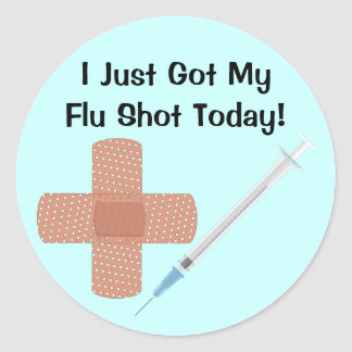 Flu Vaccine Sticker