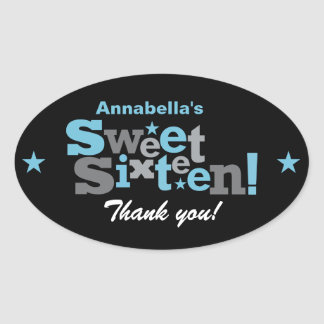 Fluctuating Type Sweet 16 Sticker