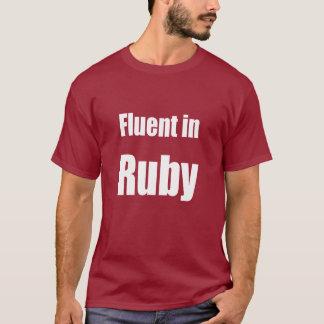 Fluent in Ruby - dark red programmer shirt
