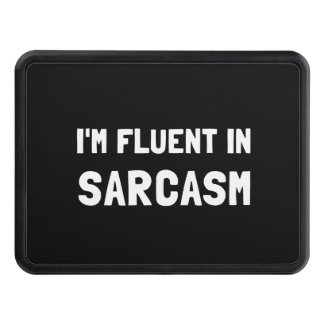 Fluent In Sarcasm Trailer Hitch Covers